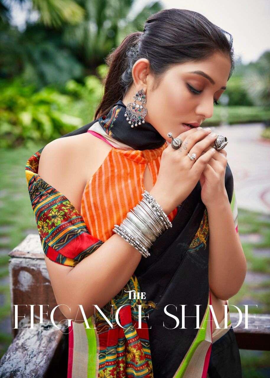 shreyans fashion sangamithra series 01-12 soft cotton base saree