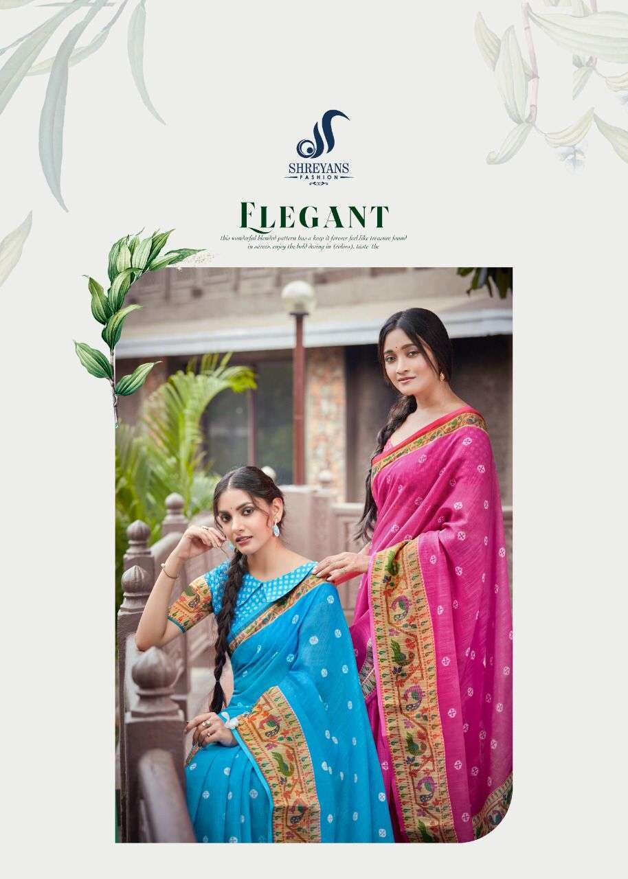 shreyans fasion hocky silk series 01-12 linen gold patta saree