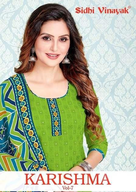 sidhi vinayak karishma vol-7 series 12601-12612 cotton printed suit
