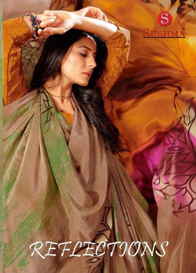sushma reflections series 11501-11507 crape printed saree