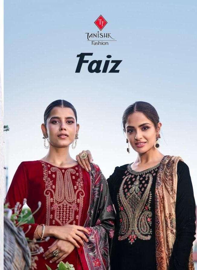 tanishk fashion faiz series 17101-17105 pure 9000 velvet suit