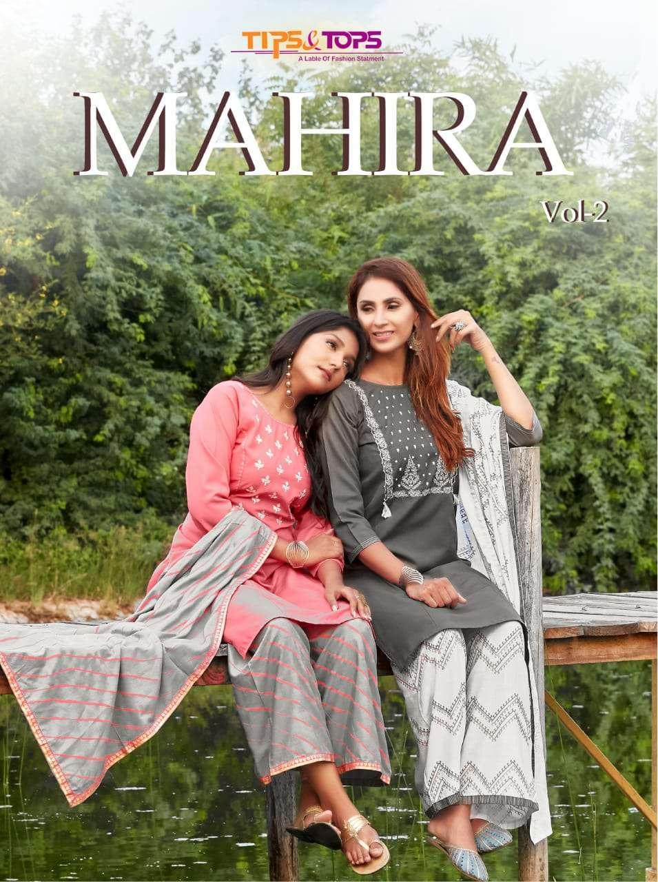 tips & tops mahira vol 2 series 1001-1006 premium silk suit
