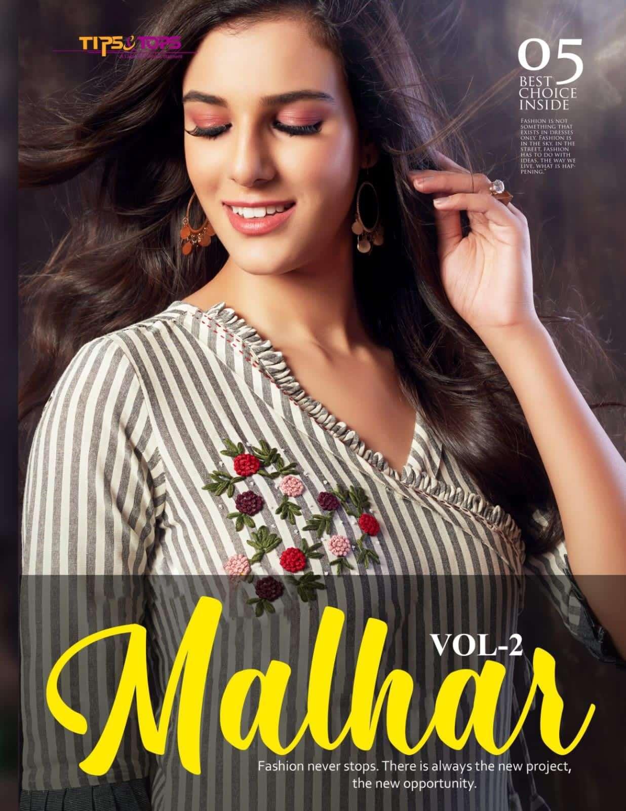 tips & tops malhar vol 2 series 001-005 Heavy Reyon Flex kurti