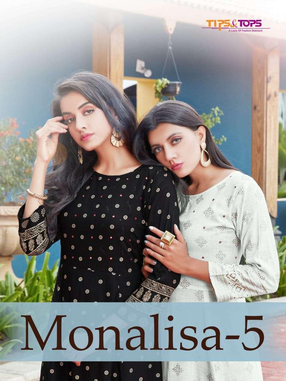 tips & tops monalisa vol 5 series 01-06 heavy rayon slub kurti