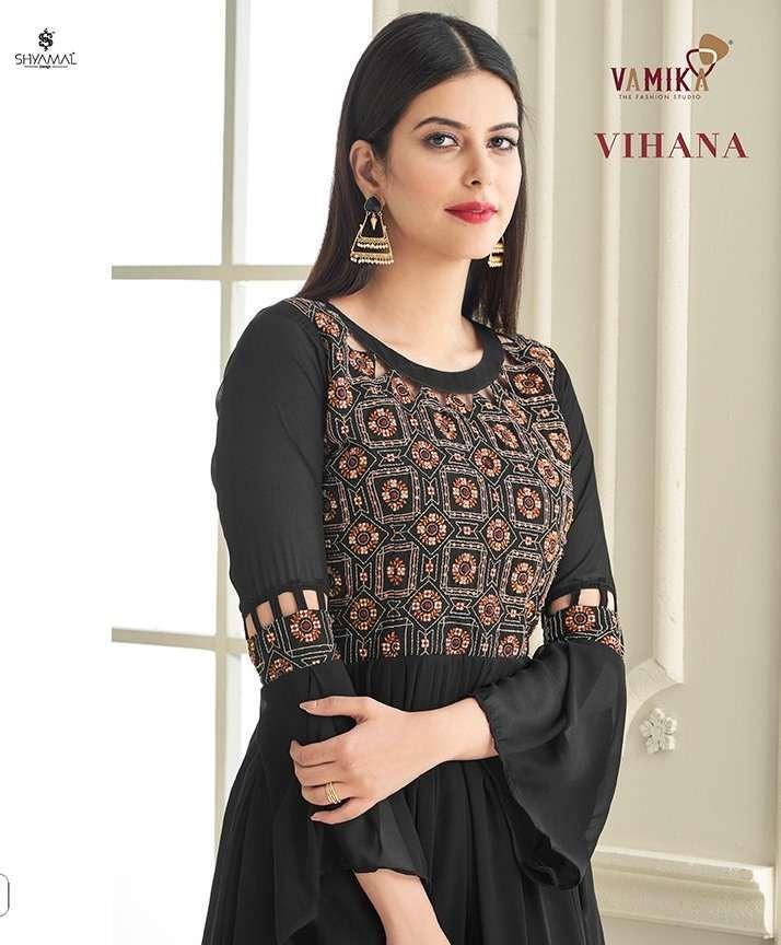 vamika vihana series 3001-3006 heavy georgette handwork embroidery gown