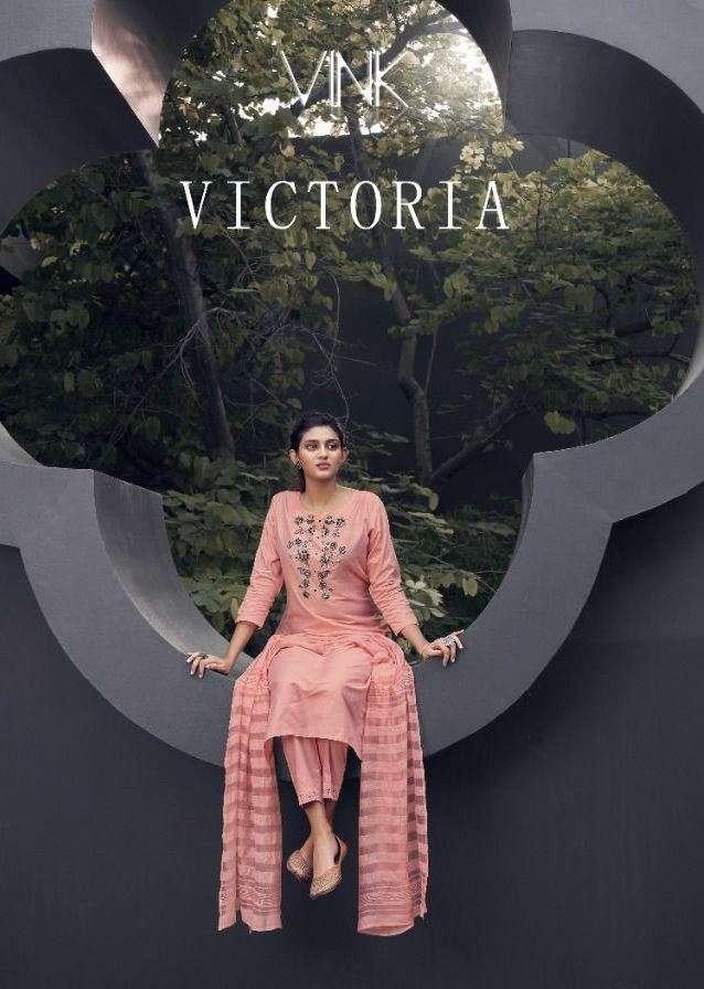 vink victoria series 1291-1296 applique organza handwork silk suit