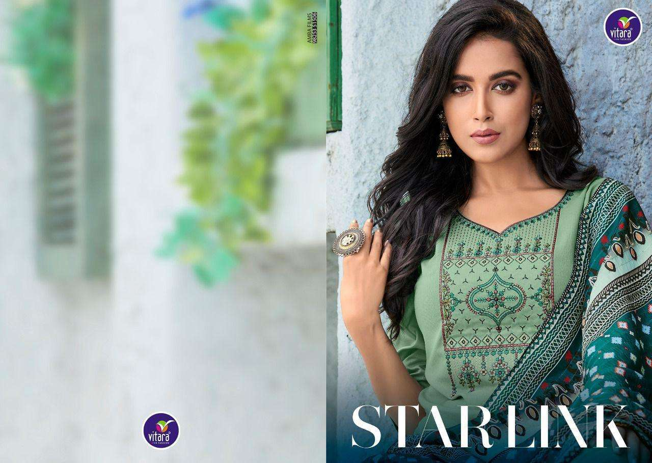 Vitara star link series 1001-1005 heavy rayon with embroidery suit
