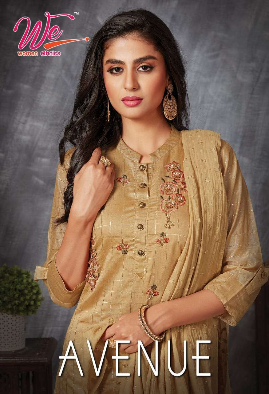 we avenue series 4601-4606 soft silk kurti with dupatta work