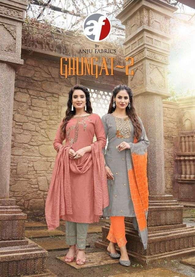 anju fab ghungat vol 2 series 2091-2095 pure viscose suit
