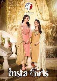 anju fab insta girls series 2071-2076 viscose rayon kurti