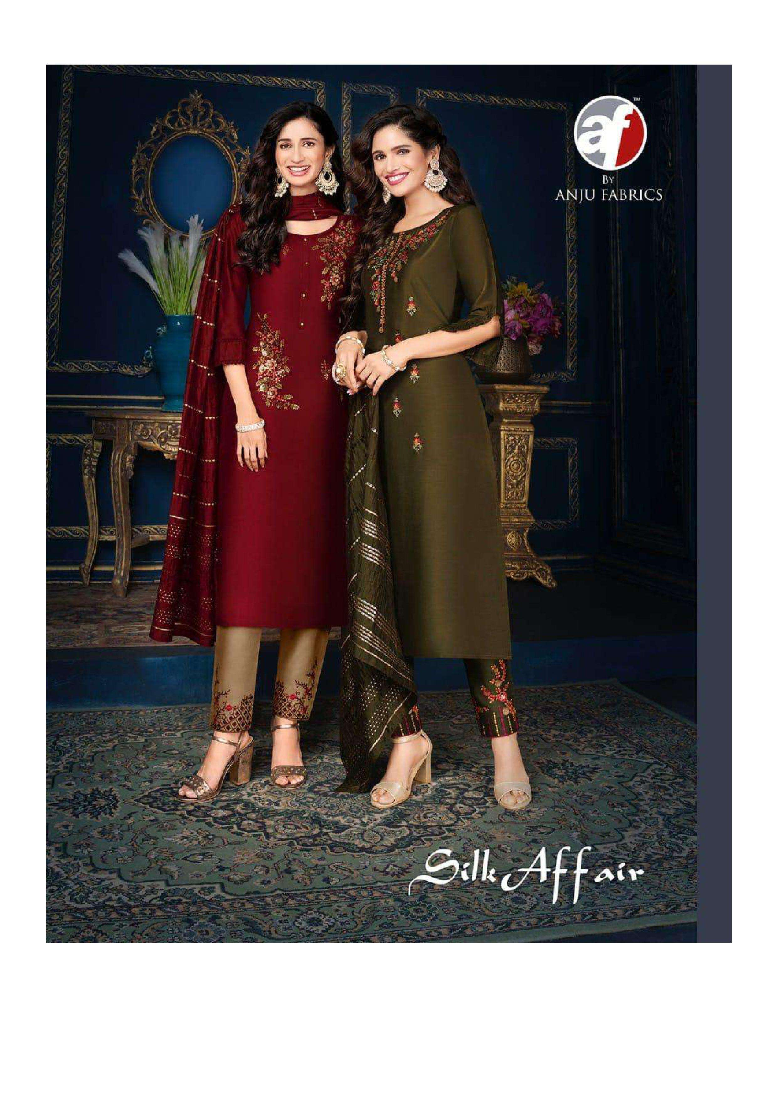 anju fab silk affair 5011-5018 comfort silk suit