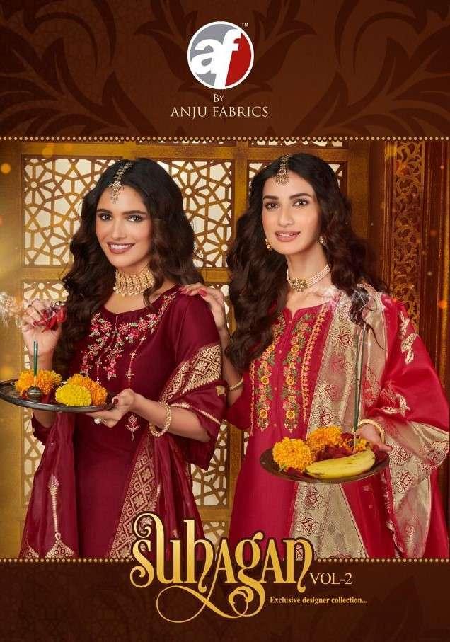 anju fab suhagan vol-2 series 5031-5036 Bemberg Silk suit