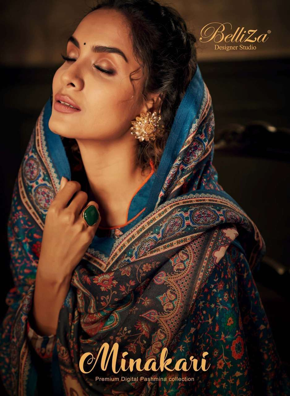 belliza minakari series 716001-716008 Pure Pashmina suit