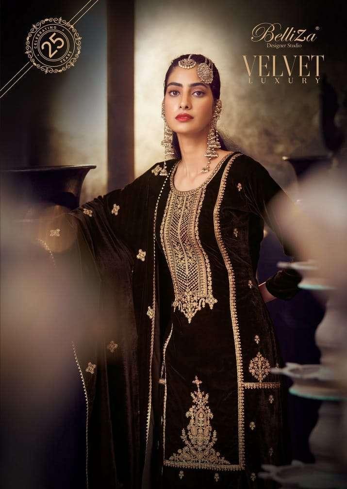 belliza velvet luxury series 713001-713006 pure velvet suit