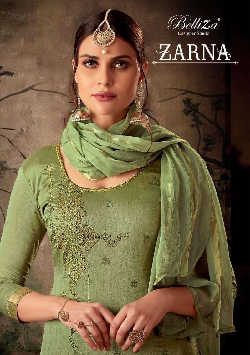 belliza zarna series 576001-576010 pure mysore silk jacquard suit