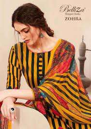 belliza zohra series 506001-506010 pure premium cotton suit
