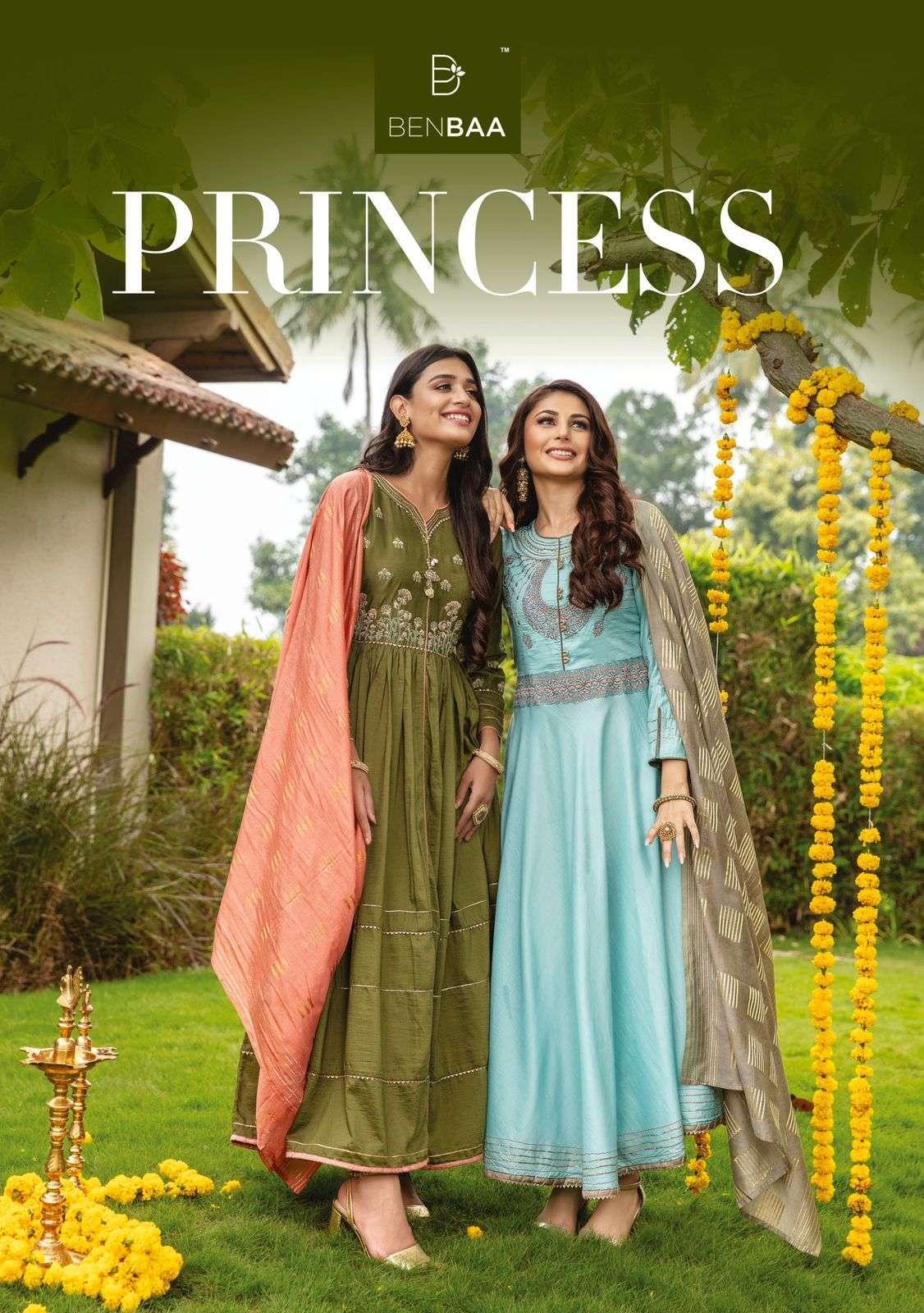 benbaa princess series 01-06 Heavy fancy silk kurti with dupatta