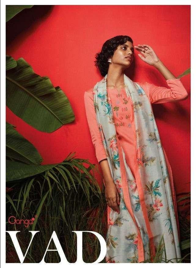 ganga vad series c0708-c0713 premium cotton satin suit