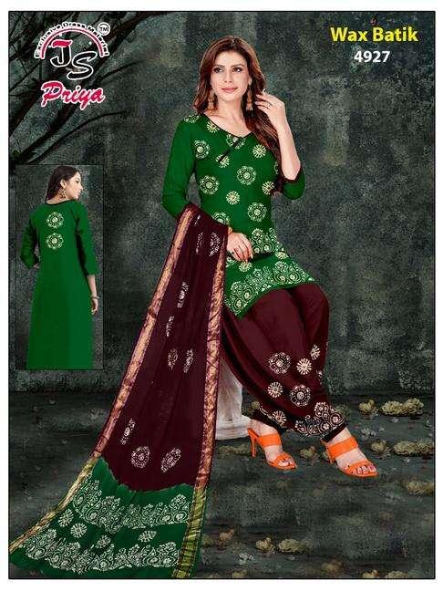 JS Priya Wax Batik cotton wax batik low range suits