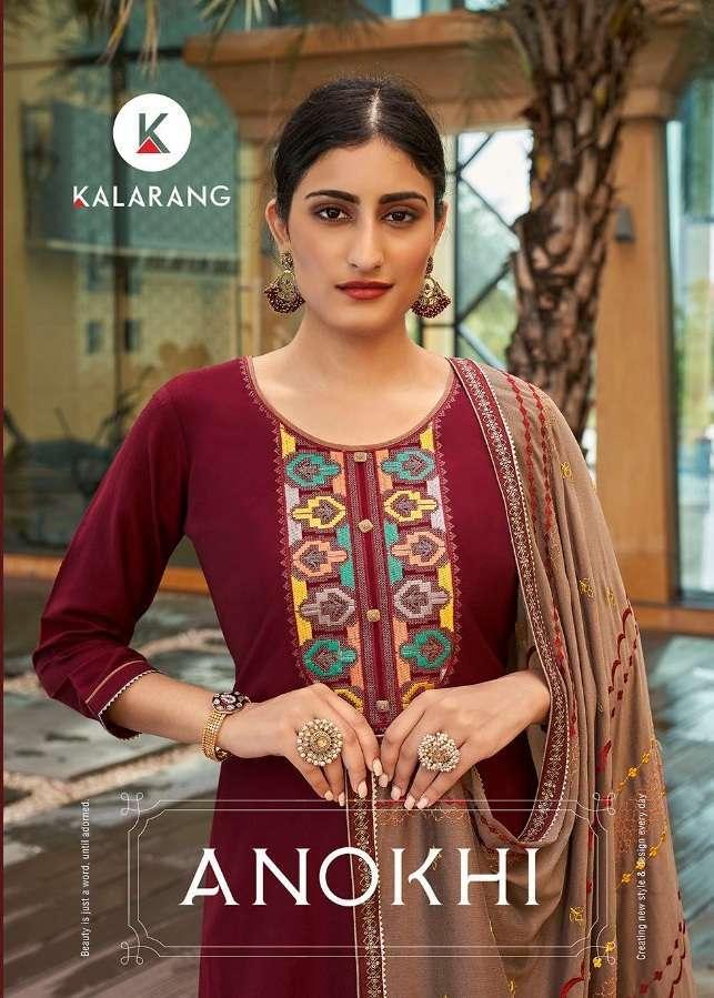 kalarang anokhi series 3331-3334 Parampara Silk kurti with dupatta