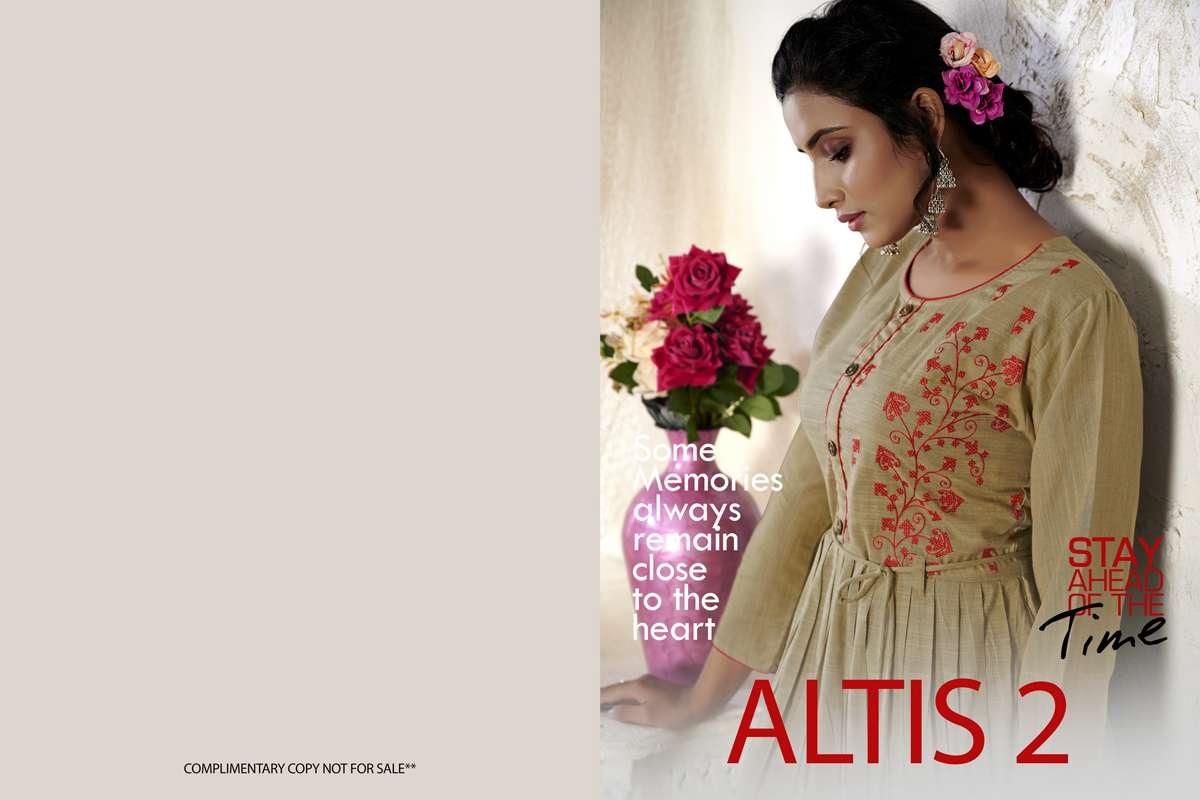 kanasu altis vol 2 series 1001-1008 fancy rayon resham silk kurti