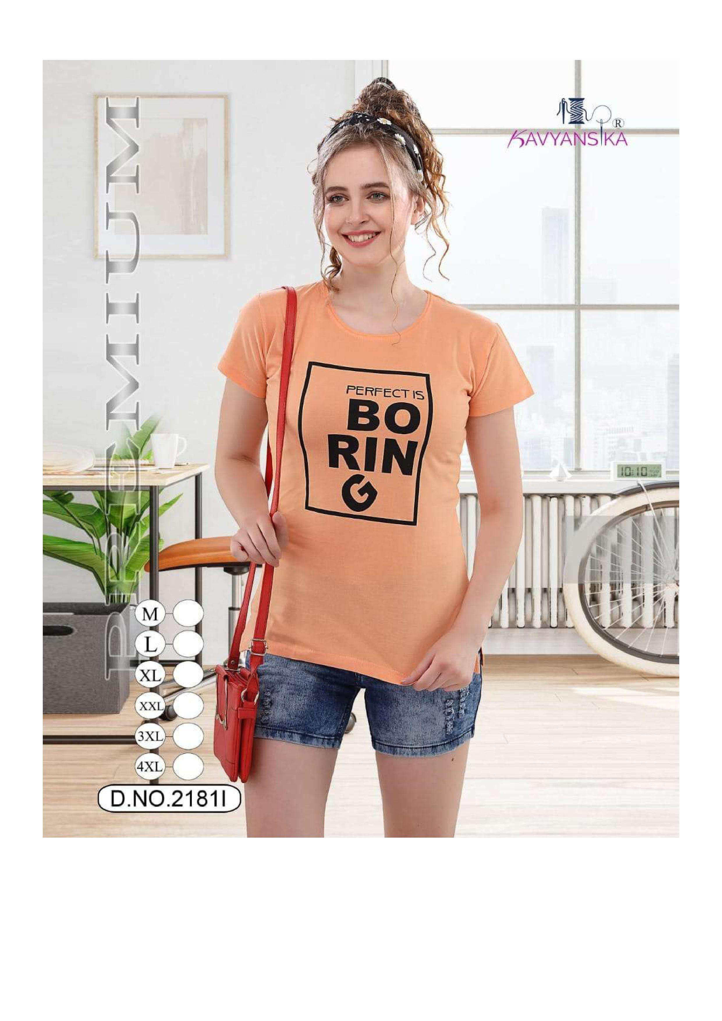 kavyansika vol 2181 hosiery cotton ladies short t shirt collection