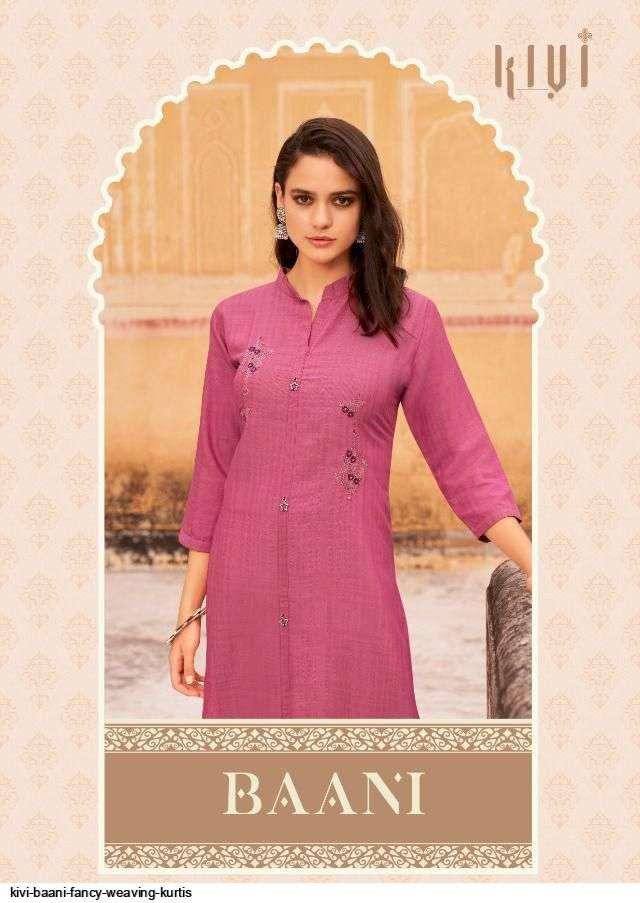 kivi baani series 1001-1006 Fancy Fabrics With Embroidery Work & Stone kurti