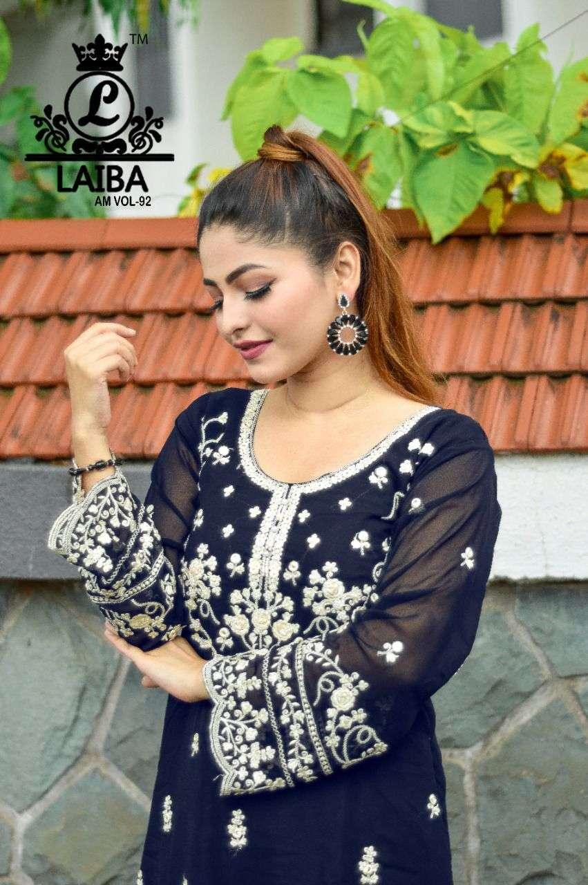 laiba am vol 92 georgette pakistani handwork tunic with bottom