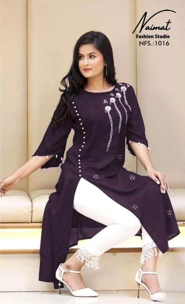 naimat fashion studio nfs vol 1016 blooming faux georgette kurti