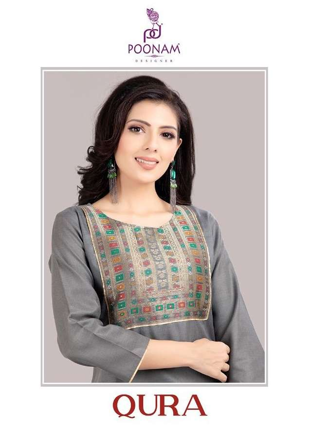 poonam qura 1001-1006 banarasi neck cotton kurti
