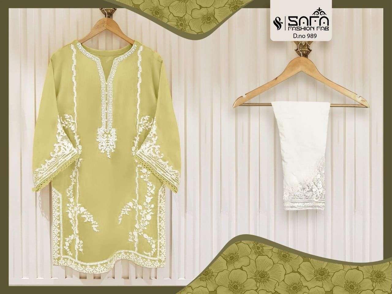 safa fashion sf-989 Pure georgette Embroidered Tunic