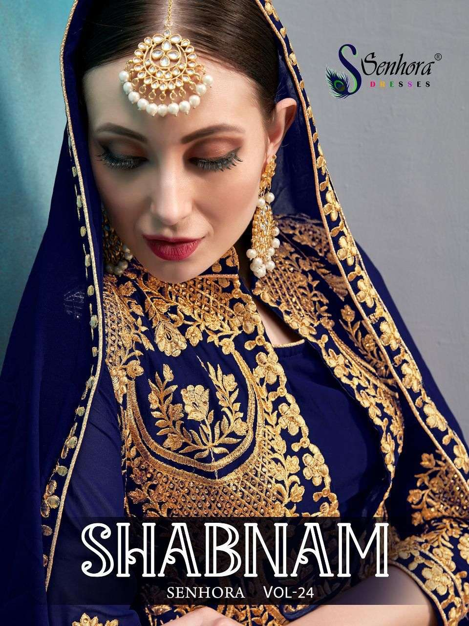 SENHORA DRESSES SHABNAM DESIGNER FAUX GEORGETTE SUIT