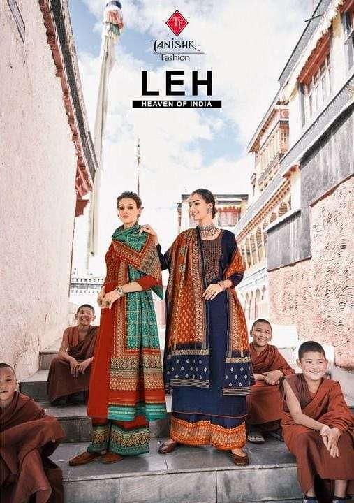 tanishk fashion leh series 17401-17408 pure pashmina suit