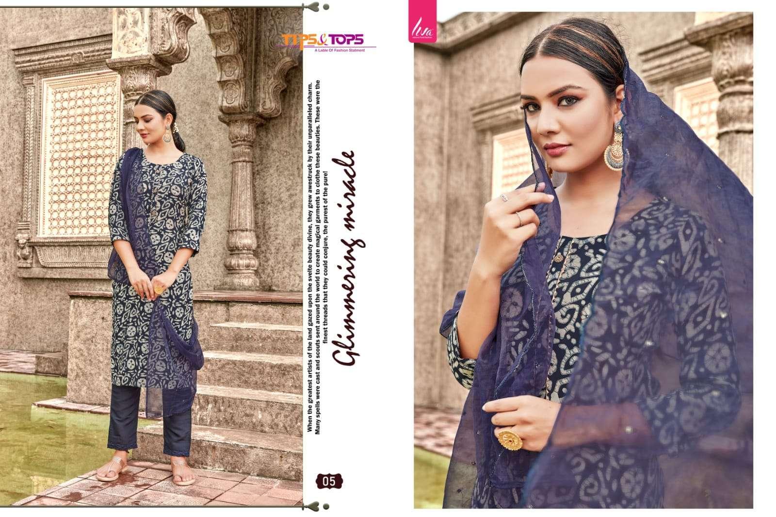 tips & tops batik vol 1 series 01-06 Heavy Muslin Batik Foil Print suit