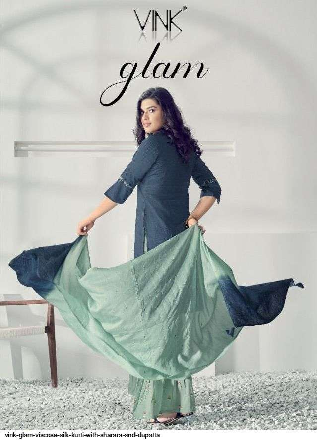 vink glam series 1211-1216 viscose silk readymade suits