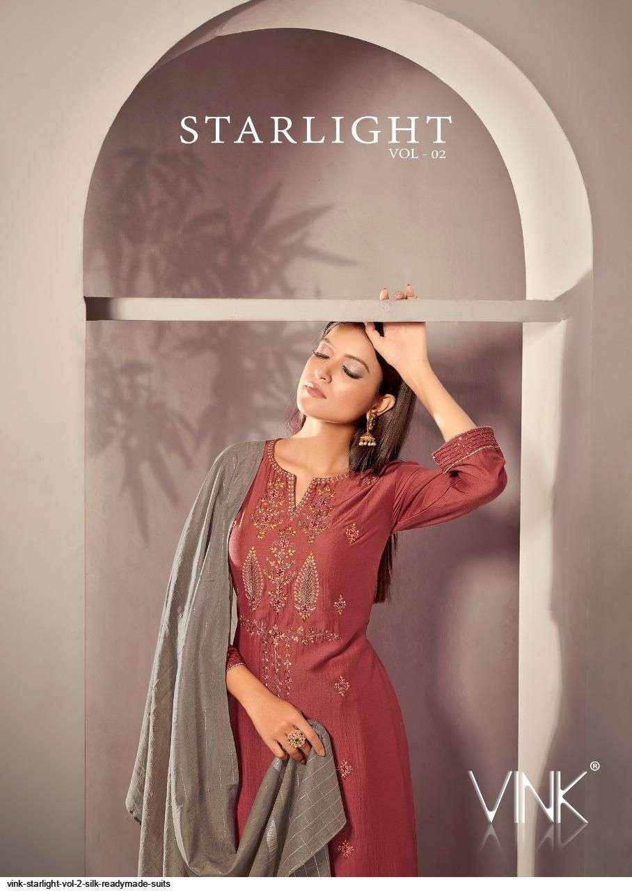 Vink Starlight Vol 2 series 911-916 viscose silk readymade suits