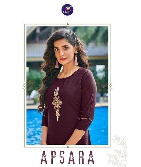 vitara apsara series 1001-1006 Jam Cotton kurti