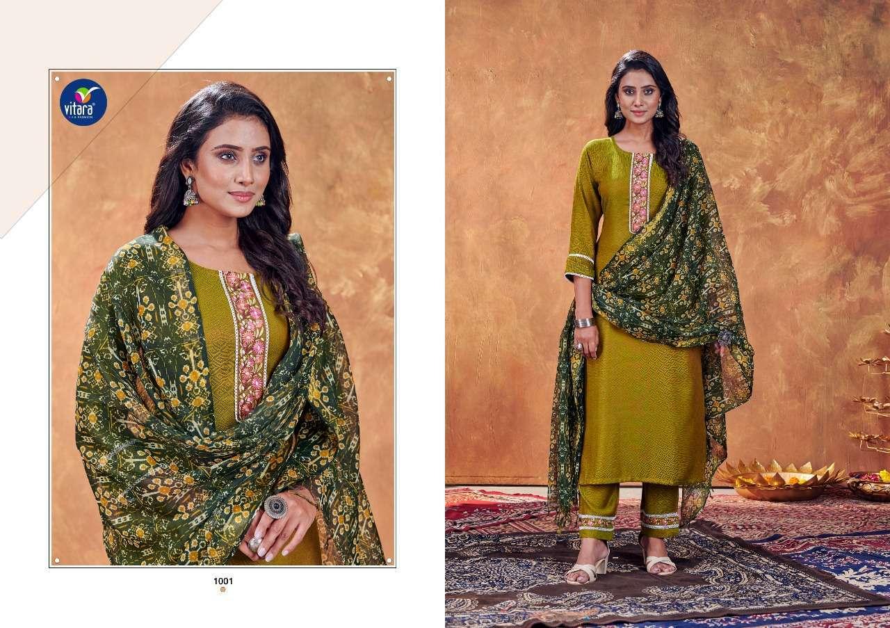 vitara fashion vintage series 1001-1004 jumbo dobhi silk suit