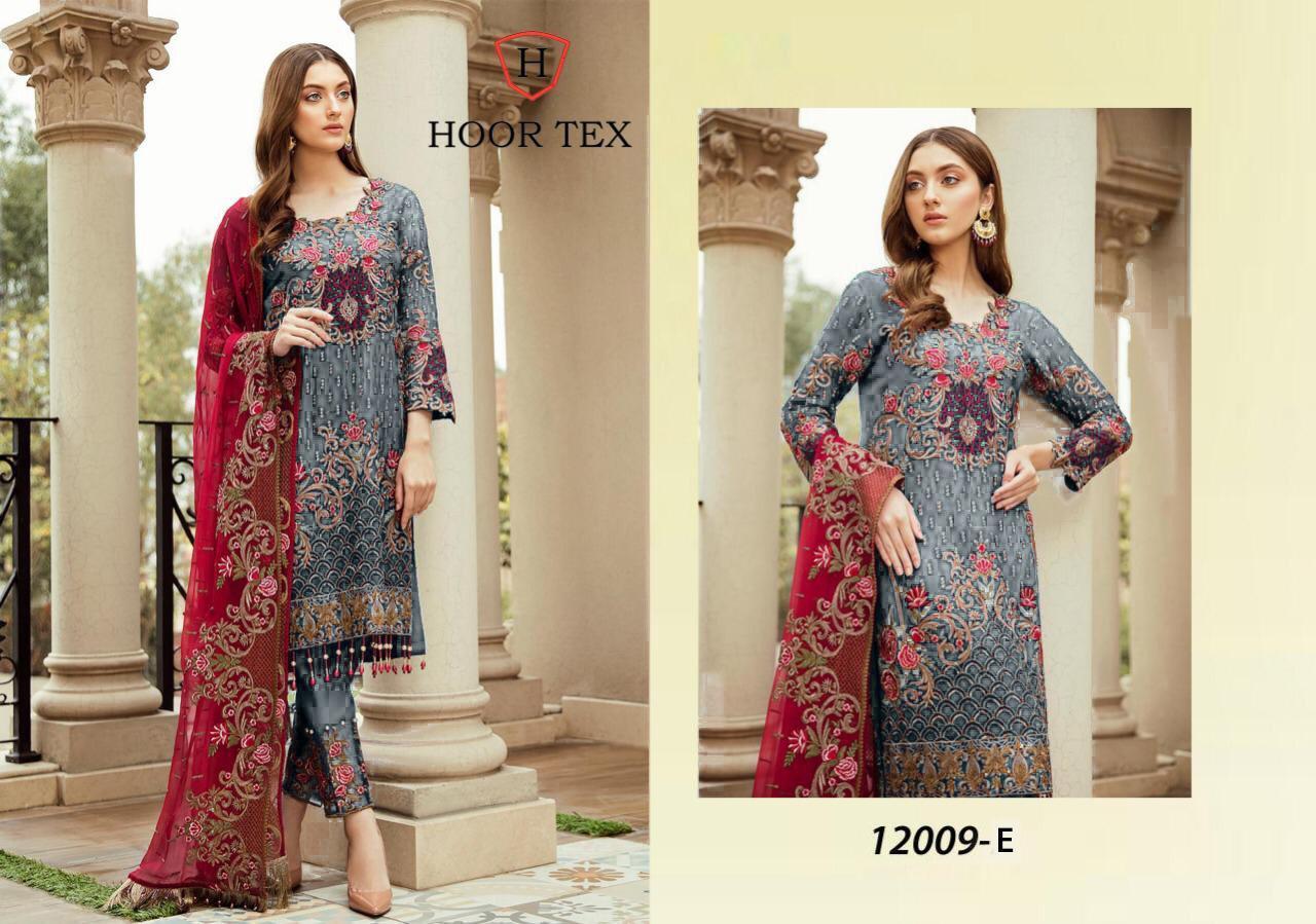 Hoor Tex 12009 Nafiza Colour Gold Vol-5 Designer Heavy Georgette Suit