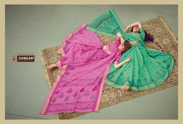 Sangam Prints Graceful Series 6001-6008 Cotton Printed Saree