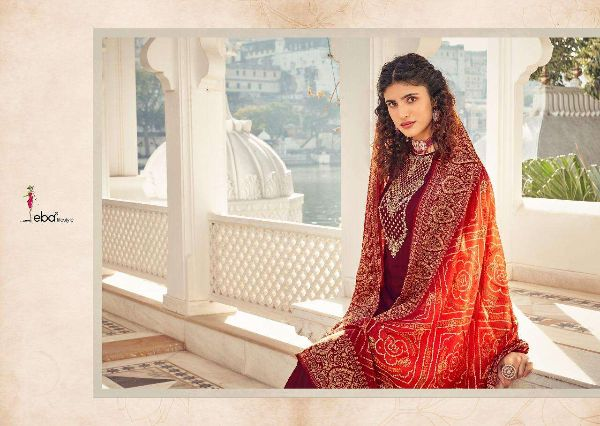 Rang Bandhej By Eba Heavy Chinon Classy Fancy Suits Online Supplier