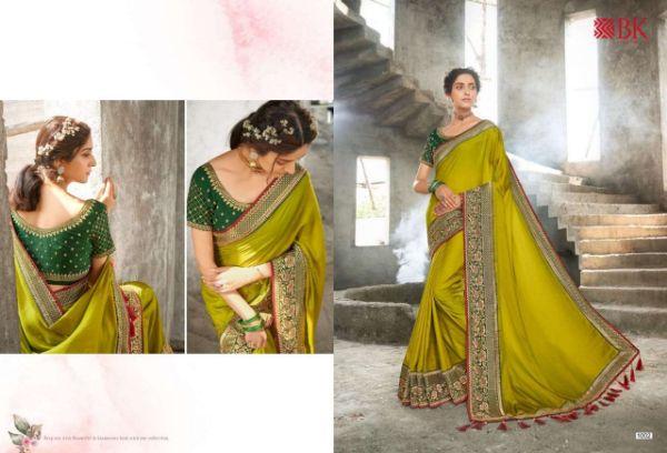 B K Silk Mills Golden Shine 11158 Fancy Saree With Designer Blouse Concept