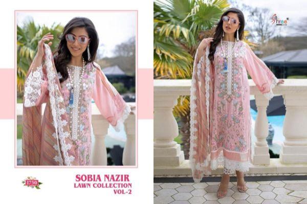 Shree Fab Sobia Nazir-2 1750 Designer Pure Lawn Suit