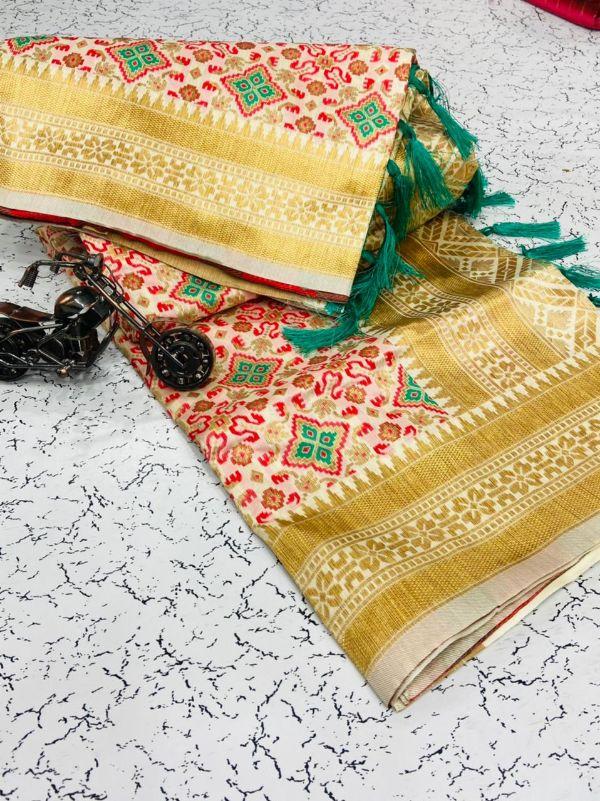 Bt-03 Designer Heavy Banarasi Weaving Silk Saree