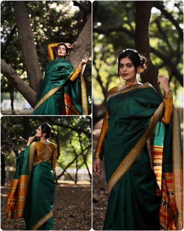 Bt-02 Designer Lichi Silk Saree