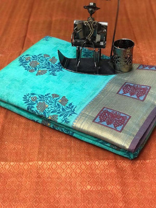 Bt-04 Designer Pure Linen Saree