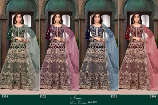 Dani Creations Aanaya Vol-123 Designer Faux Georgette Suit