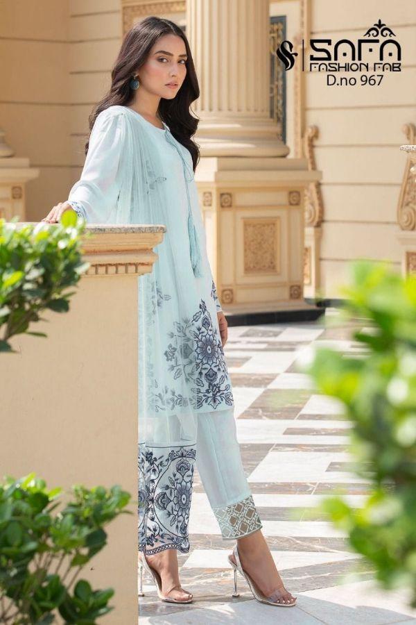 Safa Fashion Fab Sf-967 Designer Pure Georgette Suit