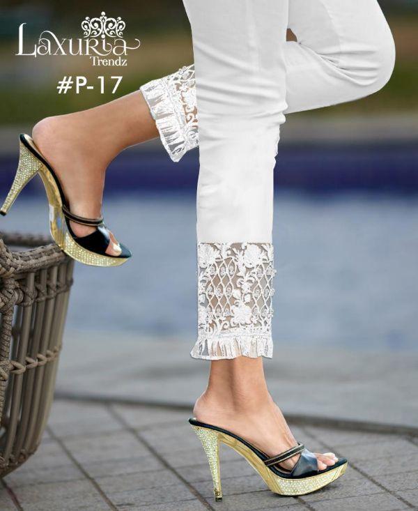 Laxuria Trendz P-17 Designer Pure Cotton Cigarette Pants